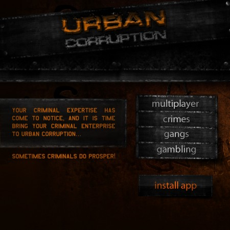 Urban Corruption RPG MySpace Application