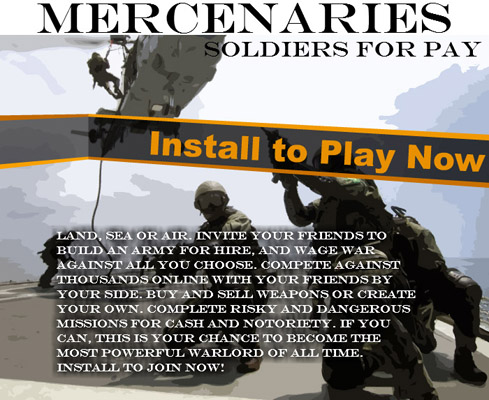 Mercenaries RPG MySpace Application
