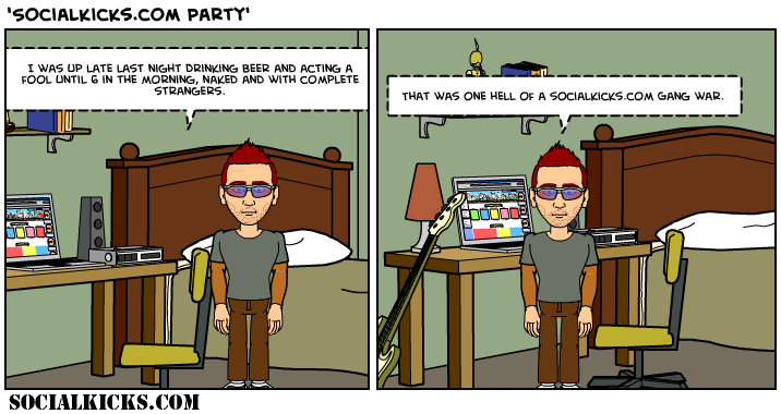 Party Time SocialKicks Comics